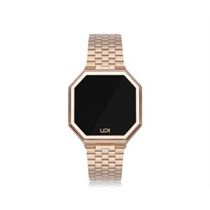 Upwatch İsim Yazılabilir Edge Matte Rose Gold And Rose Gold Strap Unisex Kol Saati