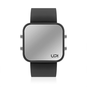 Upwatch İsim Yazılabilir Led Mini Black And Black Strap Unisex Kol Saati