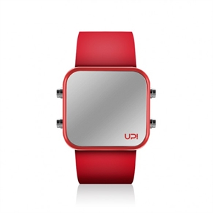 Upwatch İsim Yazılabilir Led Mini Red And Red Strap Unisex Kol Saati