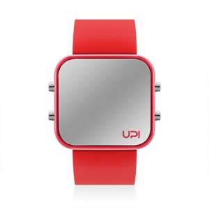 Upwatch İsim Yazılabilir Led Red And Red Strap Unisex Kol Saati